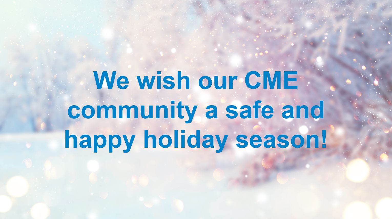Happy holidays from ACCME