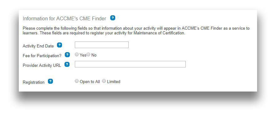 Registering Cme Activities For Moc Points Accme